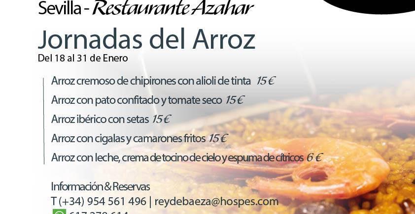 Jornadas del arroz en el restaurante Azahar