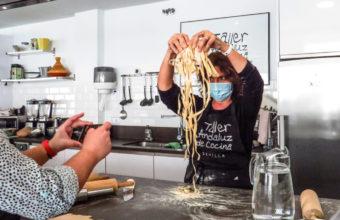 Taller de pasta fresca para niños