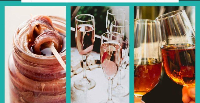 Taller 'Sobar anchoas y maridarlas con Cava y Jerez' en La Vinacería