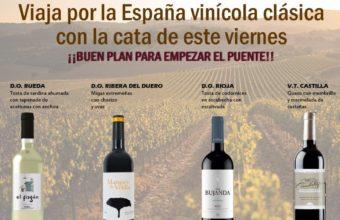 Cata viaje por la España vinícola clásica en Saborearte
