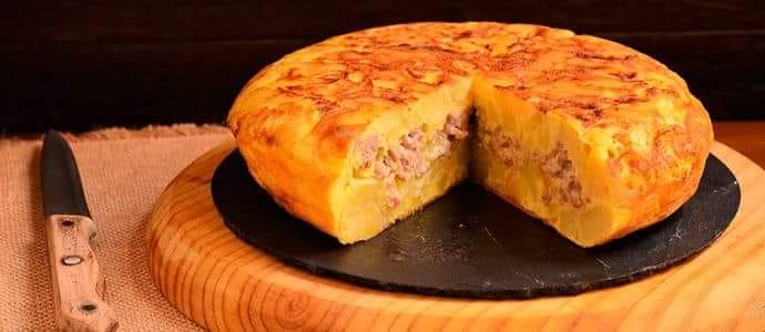 Tortilla rellena de Tortillas Alcalá. Foto cedida por el establecimiento.
