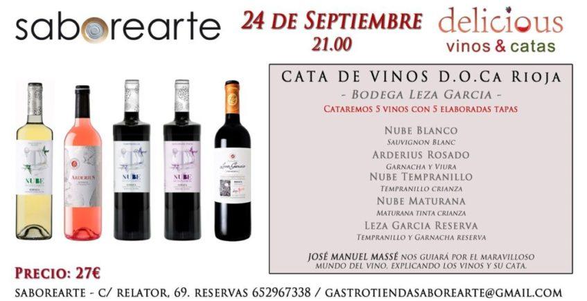 Cata de vinos D.O CA Rioja en Saborearte
