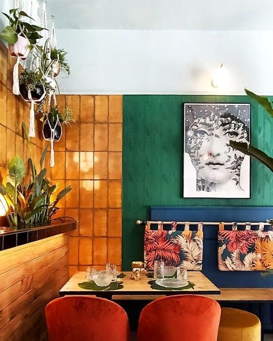 La decoración se inspira en el art decó de los años 30 y 40. Foto cedida por el establecimiento