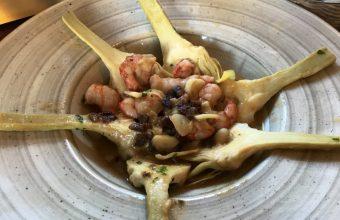 Las alcachofas guisadas al Palo Cortao de la taberna Azafrán