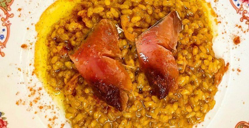 El arroz con fondo marinero de La Cochera del Abuelo