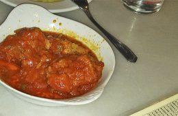 El bacalao en tomate de Las Teresas