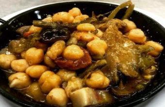 El cocido de gabanzos con tagarninas de la Bodeguita Consolación.