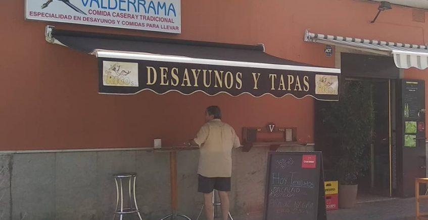 La tostada de jamón del bar Valderrama