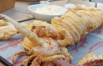 El calamar de potera frito de Tradevo Centro