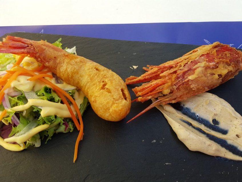 Carabinero en tempura Cambados