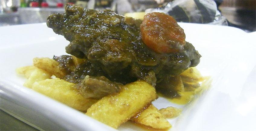 La carrillada en salsa de la Bodeguita Romero