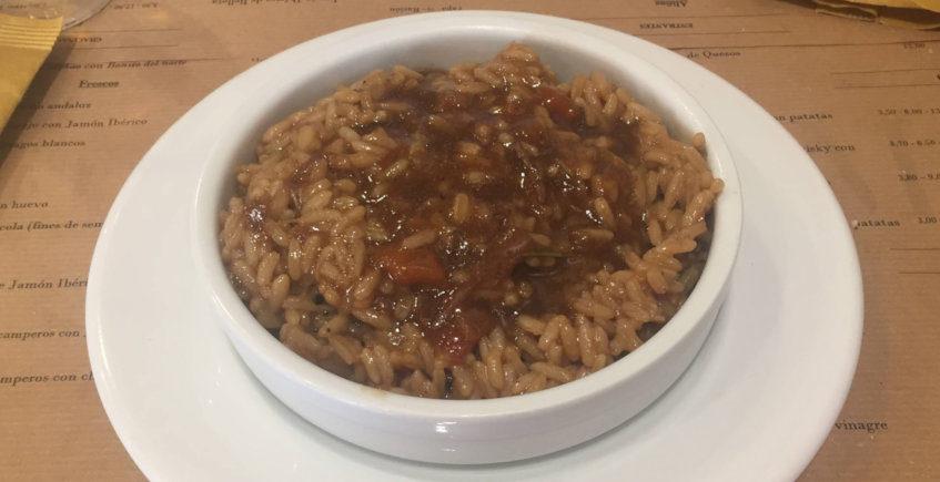 El arroz con cola de toro de Casa Román