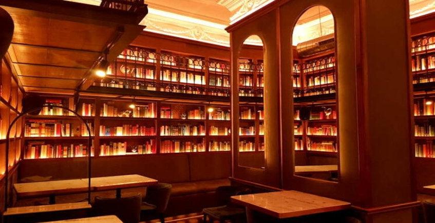 Biblioteca victoriana de Chicarreros. Foto cedida por el establecimiento