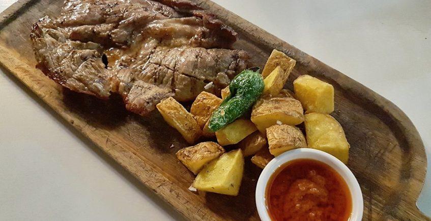 El churrasco de cerdo de La Gastroteka