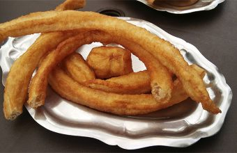 Los churros de rueda de la cafetería churrería Chari