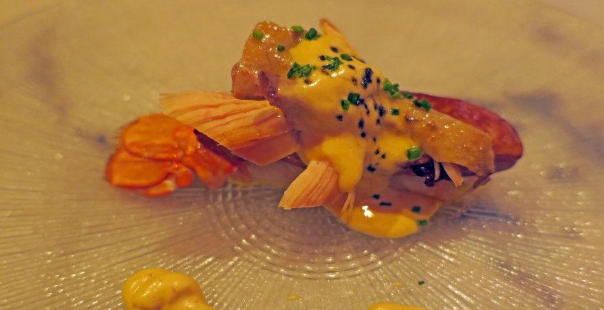La cigala, foie y perdiz en escabeche de Chicarreros Restaurant & Cocktails