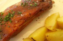 Las costillas de cerdo asadas del Restaurante Bar  Belvedere