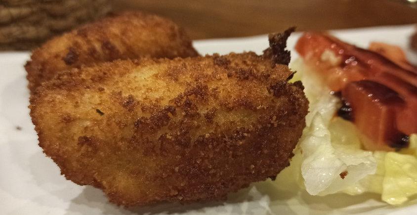 Las croquetas de gorgonzola con alioli de dulce de membrillo de Pan Rallao