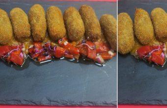 Las croquetas de retinto de Bolonia Restaurante