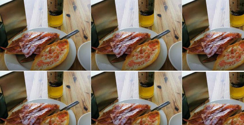 El desayuno de la Bodega Los soportales