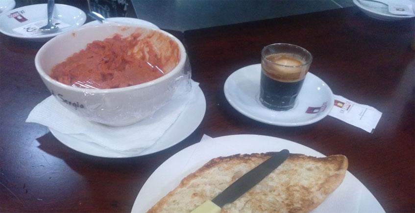 Los desayunos de El Fogón de Sergio