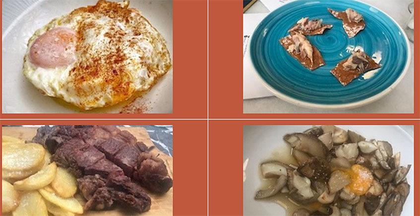 La ensaladilla de langostinos y huevo frito de Lalola