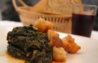 Espinacas labradas del restaurante Hispania de Écija