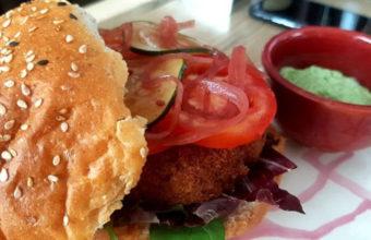 La hamburguesa vegetariana de garbanzos de Pan y Circo