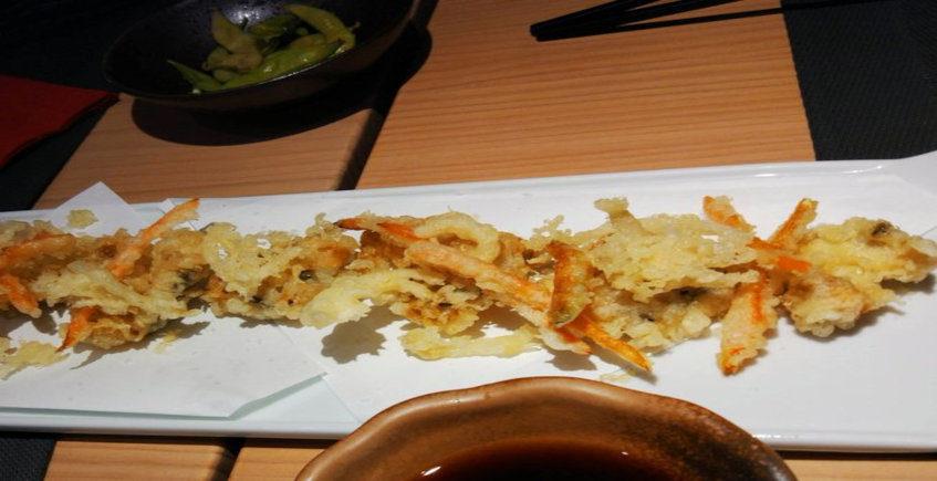 Las cocochas de merluza en tempura del Restaurante Hiyoki