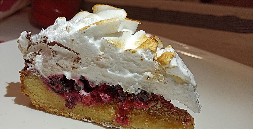 La tarta de grosella y merengue de Ambrosius