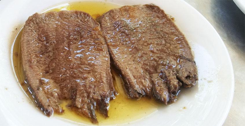 La lengua de toro en salsa del restaurante Los Alamos