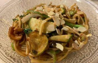 Los noodles con langostinos de Sanbers