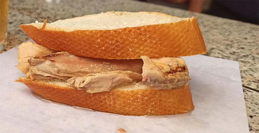 El montadito de melva del Kiosco La Melva