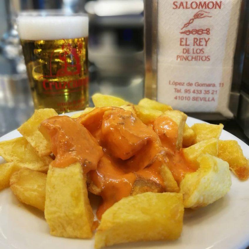Patatas bravas Salomon