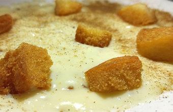 La poleá con pan frito de la taberna Las Tinajas