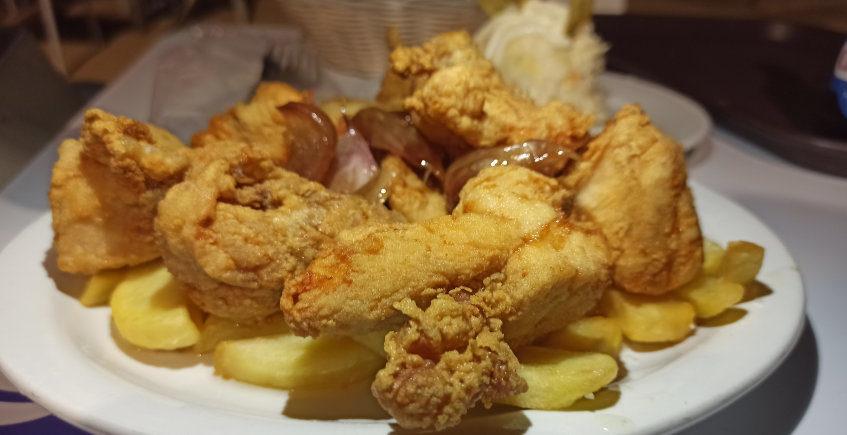 El pollo frito del Restaurante Salmedina