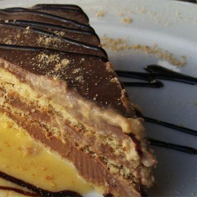 La tarta de galletas, uno de los postres. Foto: Cosasdecome