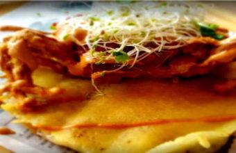 Las quesadillas de camarones de La Chida Tomares