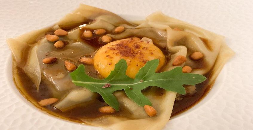 El ravioli de pato del restaurante Amara