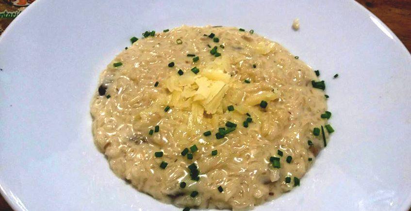 El risotto con parmesano de Estraperlo