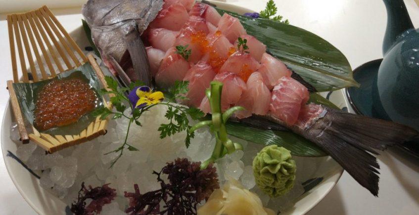 El sashimi de borriquete del Restaurante Hiyoki