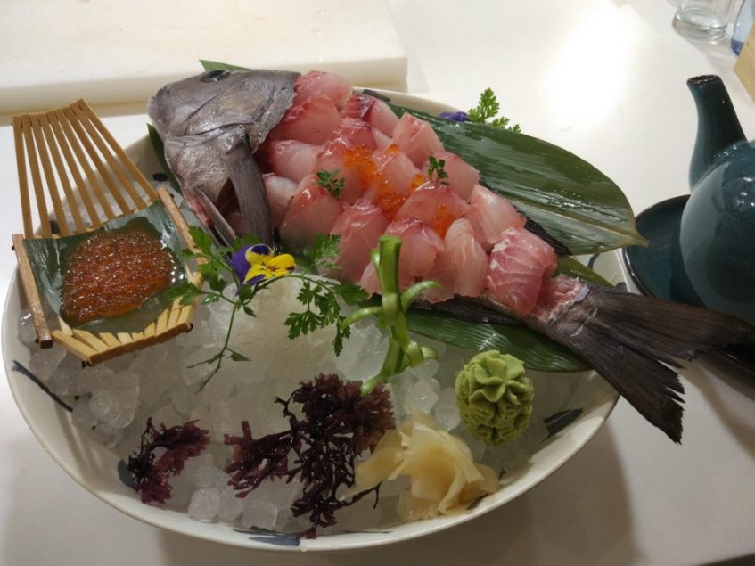 Sashimi de borriquete