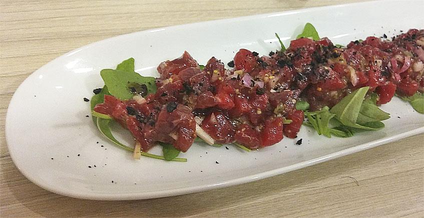 El steak tartar de ternera extremeña de Panrallao