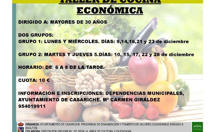 Taller de cocina económica