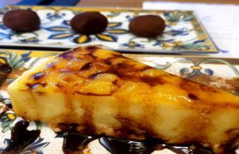 La tarta de piña y mango de Islamorada Tapas Bar