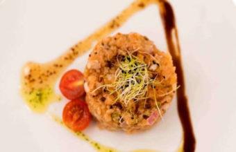 El tartar de salmón con mostaza de La Mata