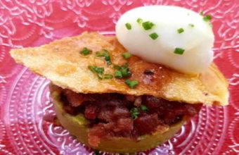El tartar de mojama, sorbete de limón y guacamole de Piegallo La Cocina de Fran Jiménez