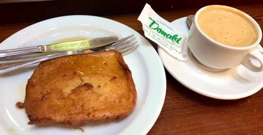 Las torrijas de la cafetería Donald