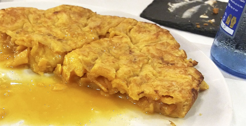 La tortilla al estilo de Betanzos de A Lembranza