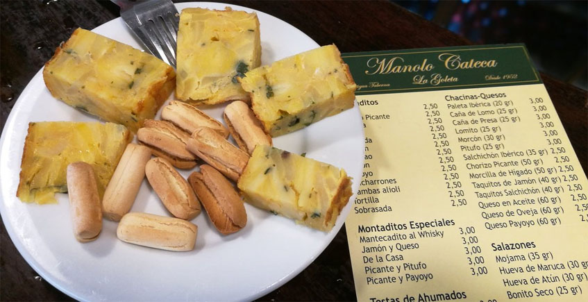 La tortilla con hierbabuena de Manolo Cateca